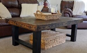 !!!NEW!!! Faux Metal Coffee Table