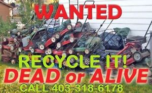 FREE PICKUP FOR UNWANTED BROKEN MOWER /TELLER/SNOWBLOWER