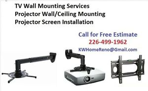 TV Wall Mounting & Projector Ceiling Mount   We sell TV Mounts