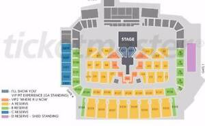 2 x Justin Bieber A Reserve Tickets East Perth Perth City Area Preview