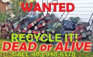 FREE PICKUP FOR YOUR UNWANTED BROKEN LAWNMOWER/TELLER/SNOWBLOWER
