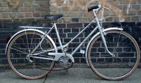 French vintage road city ladies bike MERCIER size 19in - in Silver !! 5 speed, serviced WARRANTY