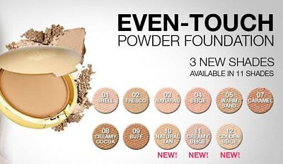 MILANI EVEN TOUCH Powder Foundation Velvety Soft Medium Coverage-#10 & 11-Choice
