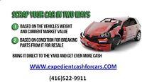 We buy Scrap & Unwanted Vehicles Today!