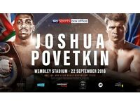 Joshua VS Povetkin SOLD OUT tickets available