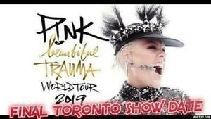 FINAL NIGHT ✸✸P!NK P!NK P!NK ✸✸ SCOTIABANK ARENA TUE May 14