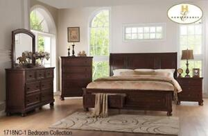 Solid Wood Queen Bedroom with Drawers (MA843)