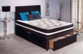 4FT6 DOUBLE DIVAN BED WITH SPRING & MEMORY FOAM MATTRESS