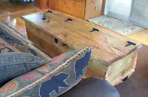 Custom Built - Rustic Pine, Chest Style, Coffee Table Peterborough Peterborough Area image 2