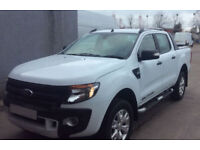 White Ford Ranger 3.2TDCi 4x4 Wildtrak Double Cab FROM £77 PER WEEK!