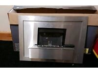 Modern gas fire with remote