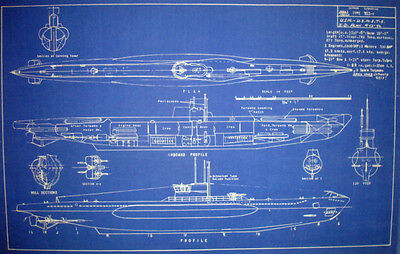 WW2 U-Boat Type 7C Blueprint Design Plan 1942 15x23 (215)