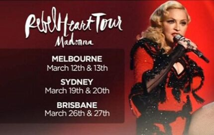 Madonna 2 tickets FACE VALUE Sydney Warriewood Pittwater Area Preview