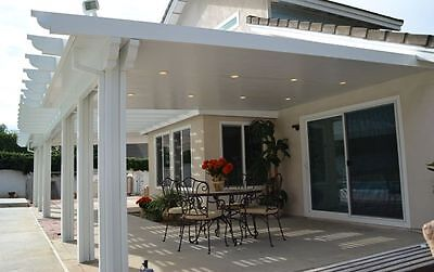 10 X 26 Insulated Aluminum Patio Cover Kit W Recessed Lights Multiple Sizes