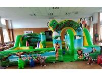 Bouncy castle and disco domes toddler zones etc