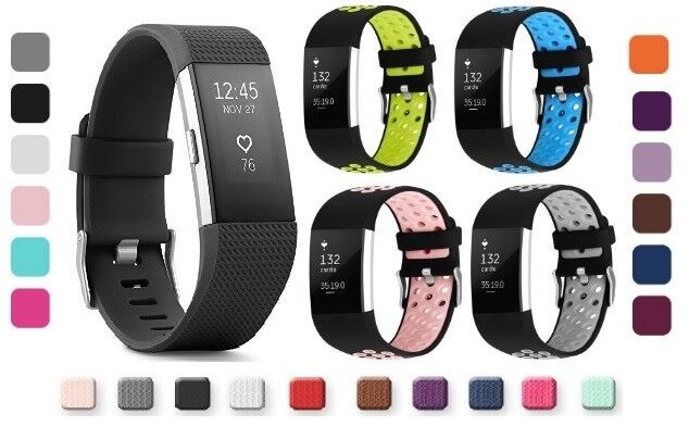Fitbit Charge 2 Replacement Wrist Bands Smart Watch Bracelet Bands - 2 Designs