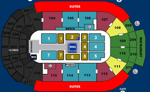 4 WWE LIVE FRONT ROW RINGSIDE TICKETS LONDON MARCH 12TH