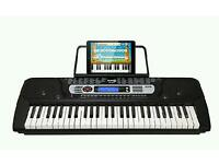RockJam 54-Key Portable Digital Piano Keyboard with Music Stand LCD Screen