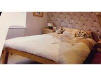 Quality solid real wood double bed