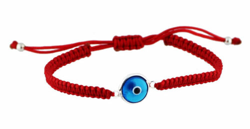 Kabbalah Red String Bracelet with Blue Evil Eye - Protection Luck