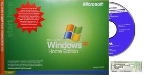 Microsoft Windows XP Home with SP2 / SP3 - Full Install Version | Free Shipping