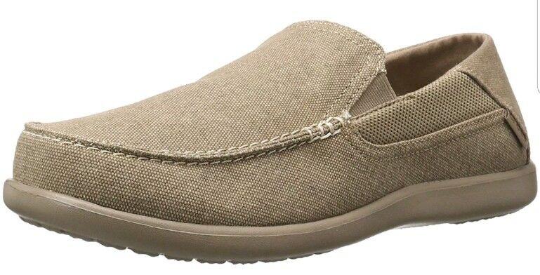 crocs Mens Santa Cruz 2 Luxe M Slip-On Loafer, Khaki/Khaki, 10 M US