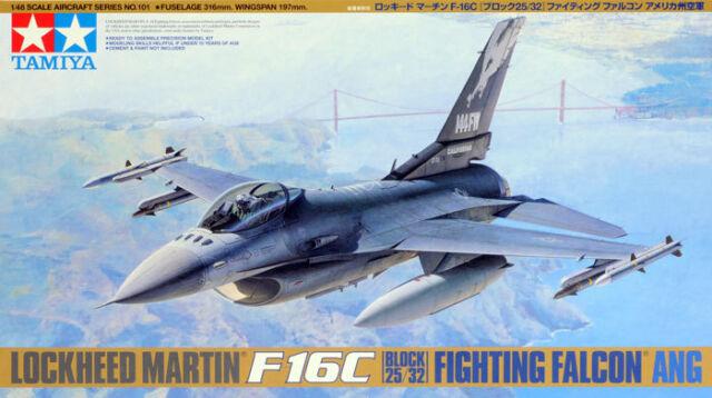 Tamiya 1/48 Lockheed Martin F16C Block 25/32 Fighting Falcon TA61101