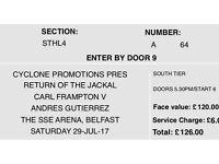 2 X Frampton v Gutierrez Tickets £180 & £130.