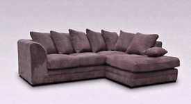 Branded new jumbo cord 4 seater corner sofa available with delivery