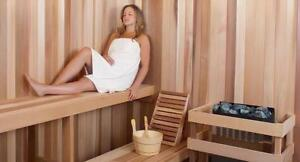 Complete Home Sauna Kits for under $3000 - including choice of electric or Infared Heater - Made in Canada!