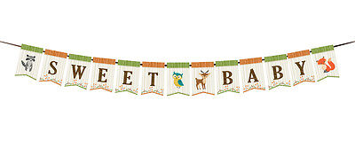 Woodland Themed Baby Shower Decorations (Woodland Baby Theme Baby Shower Bunting Banner Baby Shower)