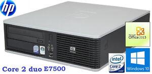 Hp dc5800 SFF: Core2 duo E7500: 2.93GHZ, 4GB RAM, HD 250GB :120$