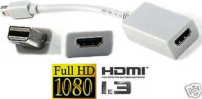 Mini DisplayPort Male HDMI Female Thunderbolt Adapter Apple MacBook Pro Air 1.3 for sale  Shipping to India