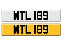 WTL 189. Cherished number plate for sale