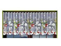 Jacquard Cafe Net Curtain Window Decoration 118 in Width x 28 in Drop