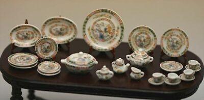 SaLe!!!  Dollhouse Miniature Eggshell Fine Porcelain Dinner Set Fine Porcelain Miniature