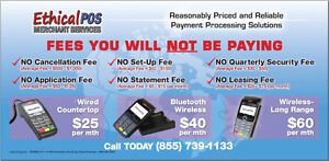 NO CANCELLATION or SETUP FEES  - AFFORDABLE MERCHANT SERVICES Stratford Kitchener Area image 2