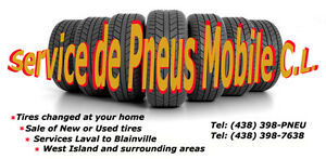 CHANGE SERVICE TIRE SERVICE AT HOME