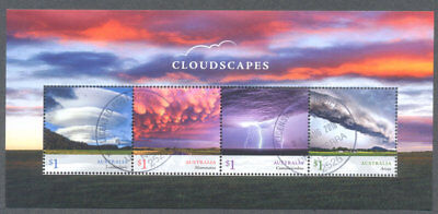 Australia-Cloudscapes 2018 min sheet fine used cto