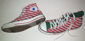 Converse All Stars Limited Edition Candy Stripe Size 9 Womens London Ontario image 2