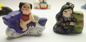 Clay Figurine New Chinese traditional folk art 12 Women Children
