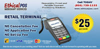 Affordable Merchant Services with No Setup or Cancellation Fees.