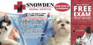 Free Pet Exam for First Time Clients & Recently Adopted Pets