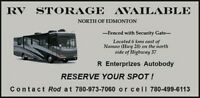 RV STORAGE NORTH OF EDMONTON