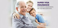 Super Visa/Travel insurance at low MONTHLY fee 416.992.1274