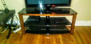 3 Tiered  Black tempered Glass Flatscreen Stand