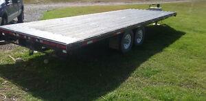 24 ft high boy flat deck trailer