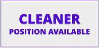 RELIABLE CLEANER NEEDED (4Hr/day-International Student Welcome)