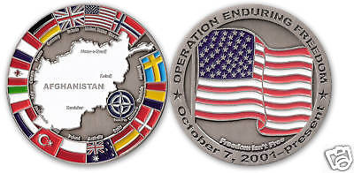 Afghanistan Challenge Coin OPERATION ENDURING -