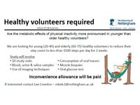 Research Volunteers Needed!! Inconvenience Allowance Paid